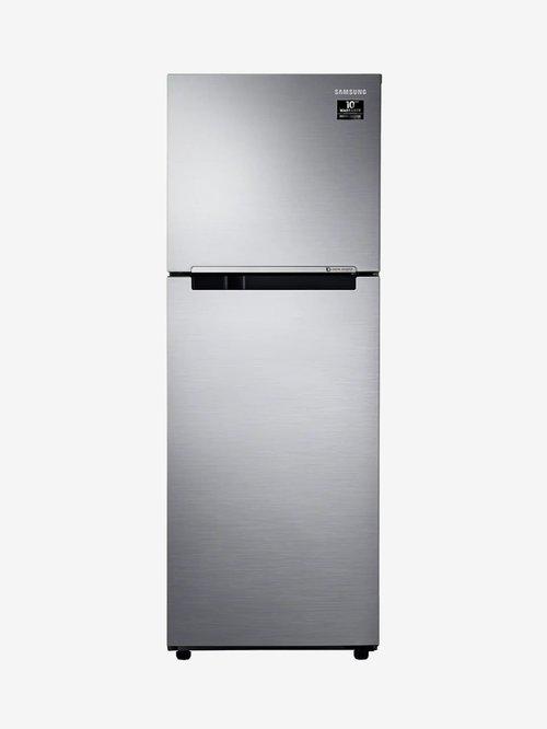 Samsung 253L Inverter 2 Star 2020 Frost Free Double Door Refrigerator  Elegant Inox, RT28T3042S8