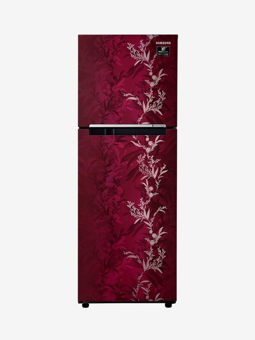 Samsung 253 L Inverter 2 Star 2020 FF Double Door Refrigerator  RT28T30226R, Mystic Overlay Red