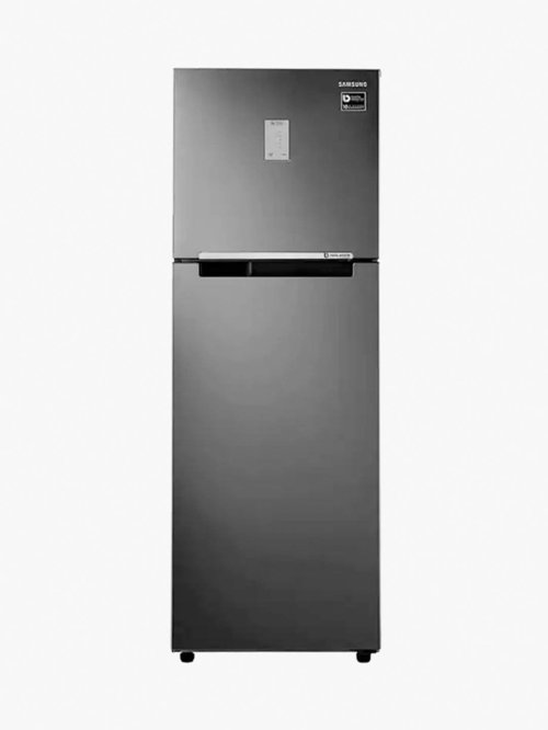 Samsung 275L Inverter 3 Star 2020 Frost Free Double Door Refrigerator  Black Inox, RT30T3423BS/HL