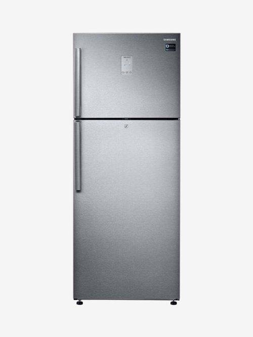 Samsung 465L Inverter 3 Star 2020 Double Door Convertible Refrigerator  Steel, RT47T635ESL/TL