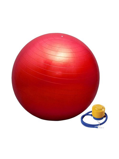 Prokyde Anti Burst Fitness Gym ball  Size 95 cm  with Foot Pump  Red