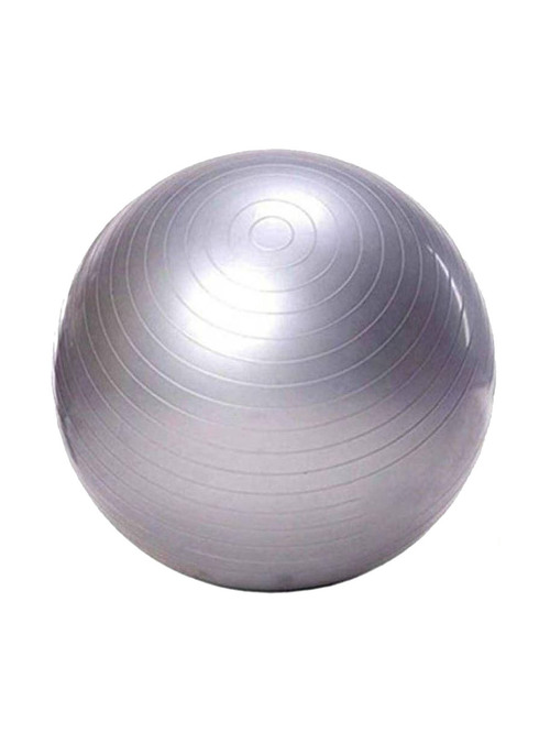 Prokyde Anti Burst Fitness Gym ball  Size 85 cm  with Foot Pump  Silver