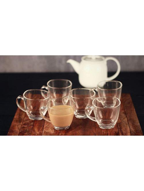 Femora Glass Espresso Tea Cups  165 ml    Set of 6