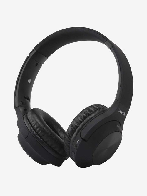 Sound One V10 Wireless Bluetooth Headphones with Microphone  Black