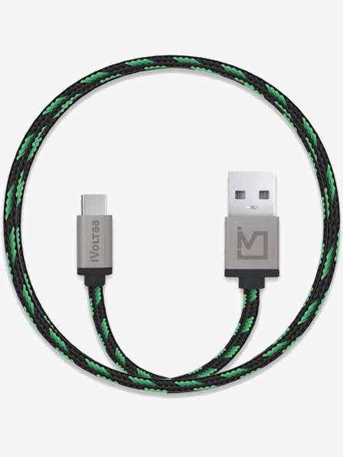 iVoltaa Pixie Braided 2.4A 1 m Micro USB Cable  Green