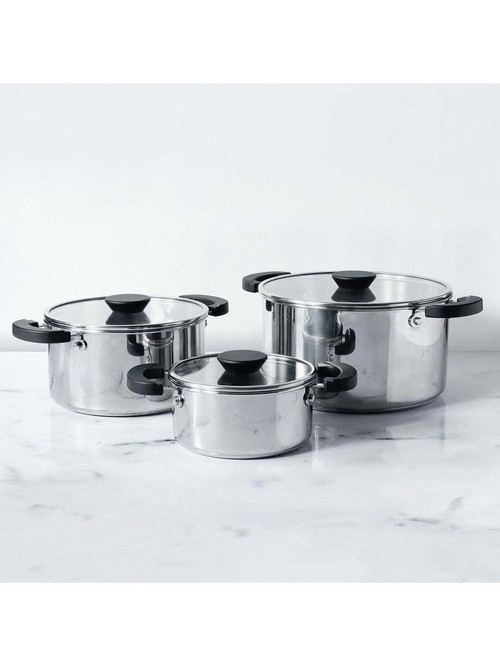 Meyer Kitchen Hacks Silver Casserole Set   Pack of 3