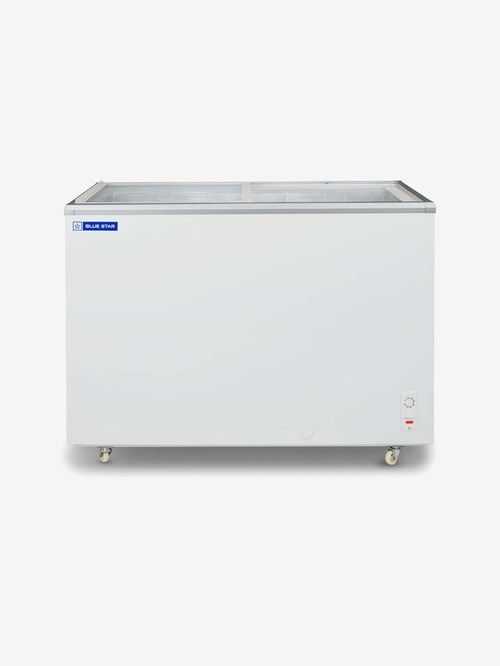 Blue Star 502L Direct Cool Flat Glass Top Double Door...
