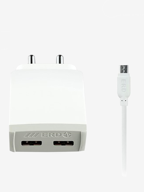 ERD TC 42 4Amp Mobile Charger with Detachable Cable  White