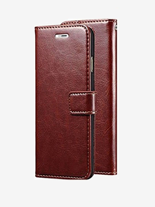 ClickCase Vintage Pu Leather Wallet Magnetic Closure Flip Cover For Oneplus 3   One Plus 3T  Brown  ClickCase Electronics TATA CLIQ