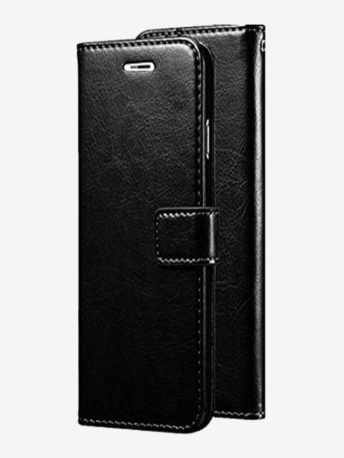 ClickCase Vintage Pu Leather Wallet Flip Case Magnetic Closure Flip Cover For Xiaomi Mi A2  Black