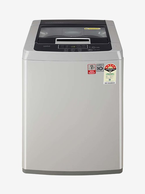 LG 6.5 Kg Inverter Fully Automatic Top Load Washing Machine  T65SKSF1Z, Silver