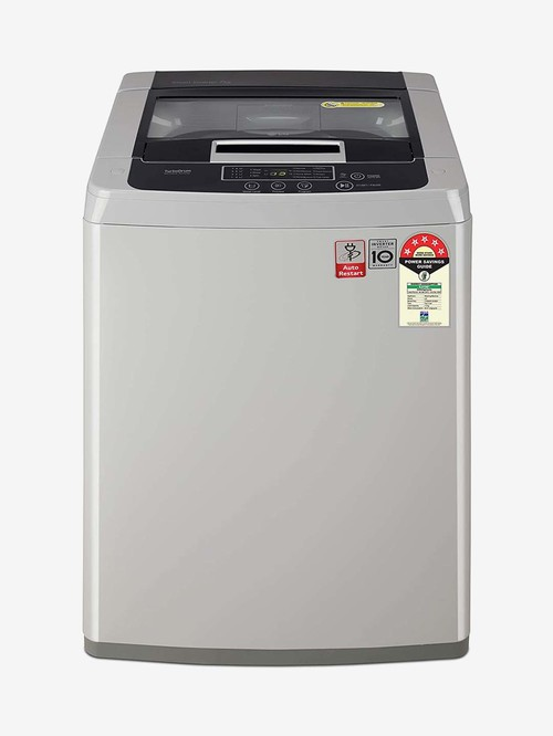 LG 7 kg Inverter 5 Star Fully Automatic Top Load Washing Machine  T70SKSF1Z, Middle Free Silver