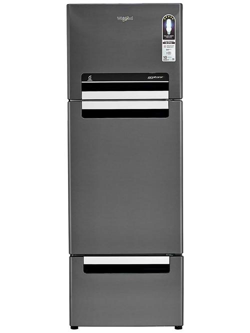 Whirlpool 300L Frost Free Triple Door Refrigerator  Steel Onyx, FP 313D Protton Roy