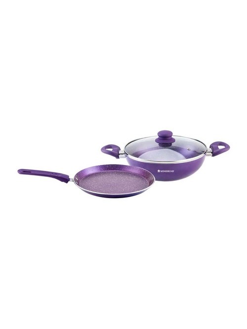 Wonderchef Orchid Purple Cookware Set