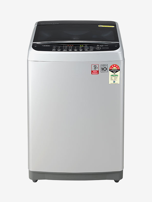 LG 8 kg Inverter 5 Star Fully Automatic Top Load Washing Machine  T80SJSF1Z, Middle Free Silver