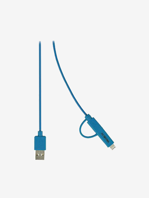 Nedis Valueline 2 In 1 Sync   Charge Cable Apple Lightning Adapter   Micro USB   Blue