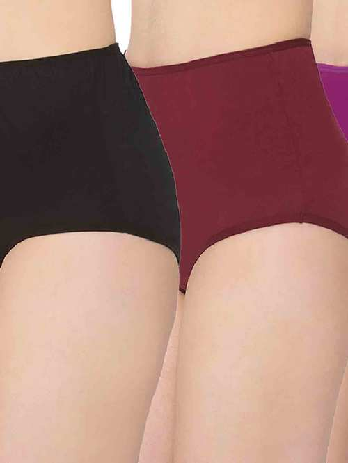MomToBe Multicolor Cotton Maternity Panty  Pack Of 3