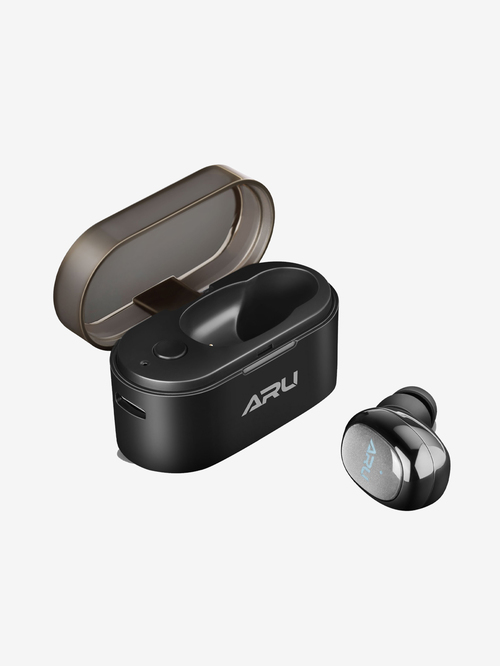 ARU Single Ear True Wireless Bluetooth Headset With Mic  Black