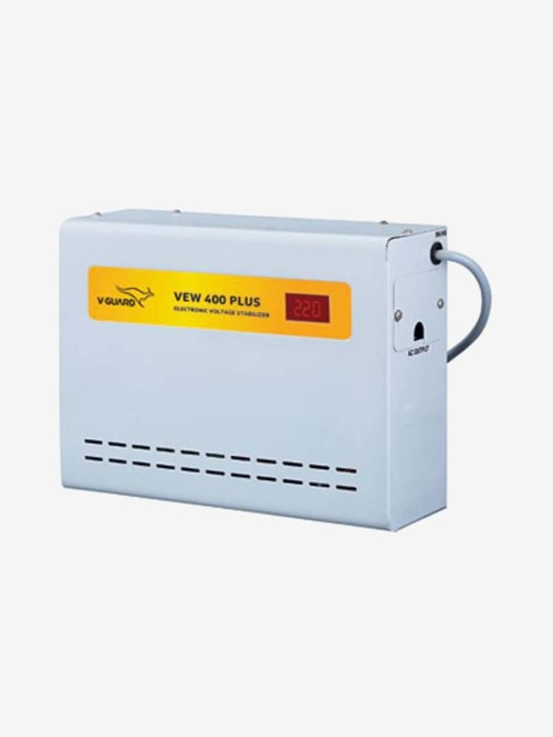 V Guard VEW 400 Plus Voltage Stabilizer for AC upto 1.5 Ton  Grey