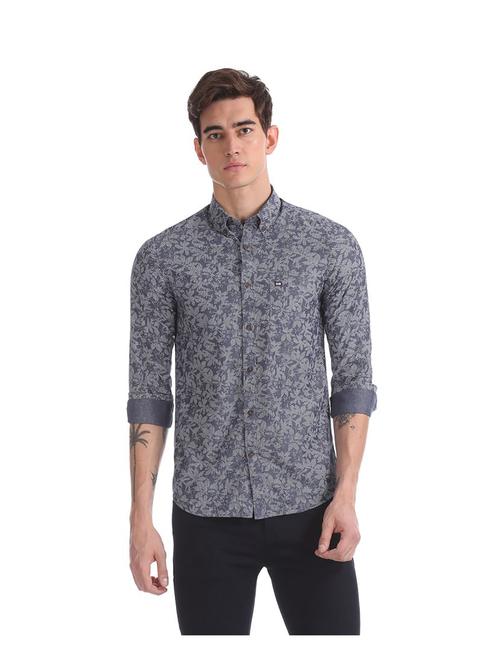Arrow Sport Blue Printed Shirt