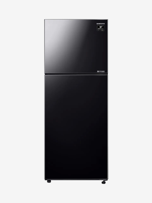 Samsung 394L Inverter 2 Star  2020  Frost Free Double Door Refrigerator  Black Glass,RT39T50382C/TL