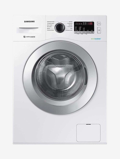 Samsung 6.5 kg Inverter 5 Star Fully Automatic Front Load Washing Machine  WW66R22EKSW/TL, White