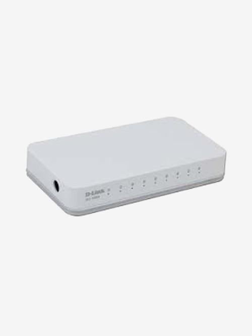 D Link DES 1008C 10/100 Mbps Network Switch  White
