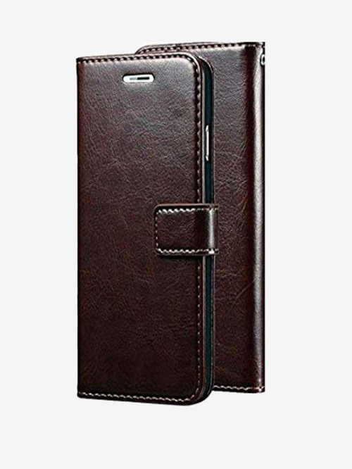 ClickCase Vintage Pu Leather Wallet Flip Cover For Samsung Galaxy J7 2015   J7 NXT  Coffee