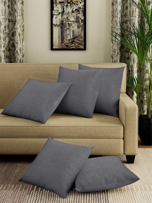Klotthe Grey Cushion Covers   Set of 5