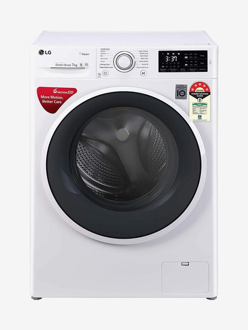 LG 7 kg Inverter 5 Star Fully Automatic Front Load Washing Machine 1000 RPM  FHT1007ZNW, White