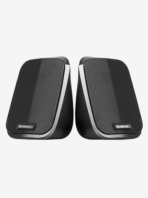 Zebronics 5W 2.0 Channel Wired Laptop/Desktop Speaker  ZEB Fame, Black