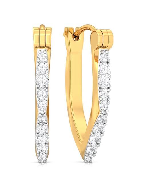 Melorra 18k Gold   Diamond Earrings for Women