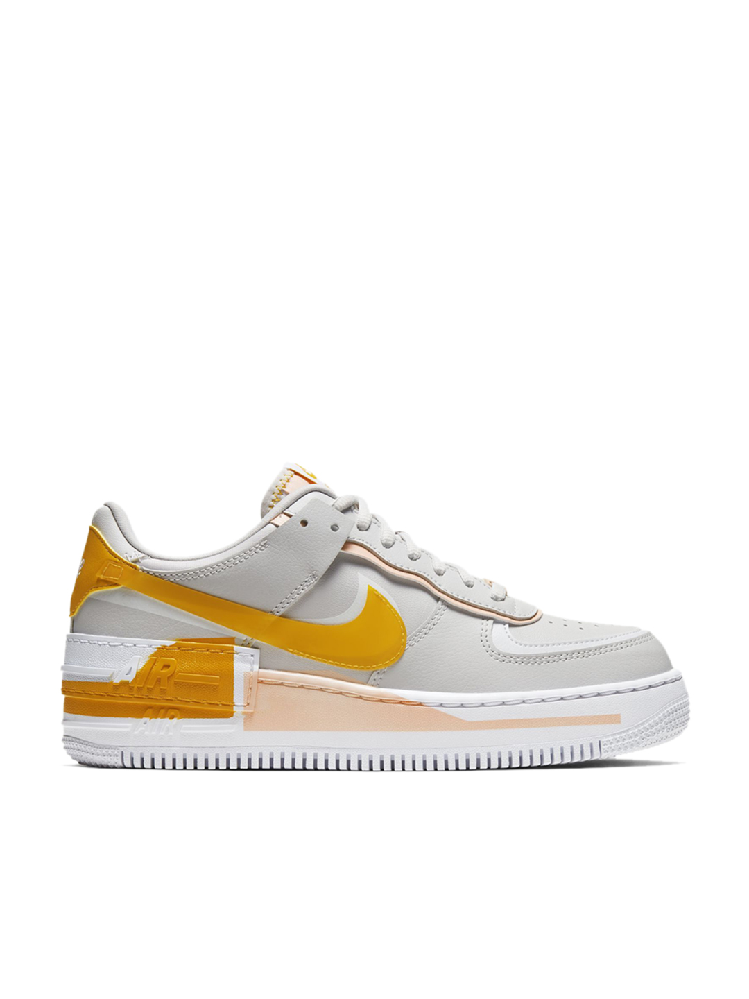 Nike Women S Air Force 1 Shadow Vast Grey Sneakers From Nike At Best Prices On Tata Cliq Expanding on their lineup is an upcoming color options that comes dressed in a mix of vast grey, pollen rise, washed coral, and white. nike
