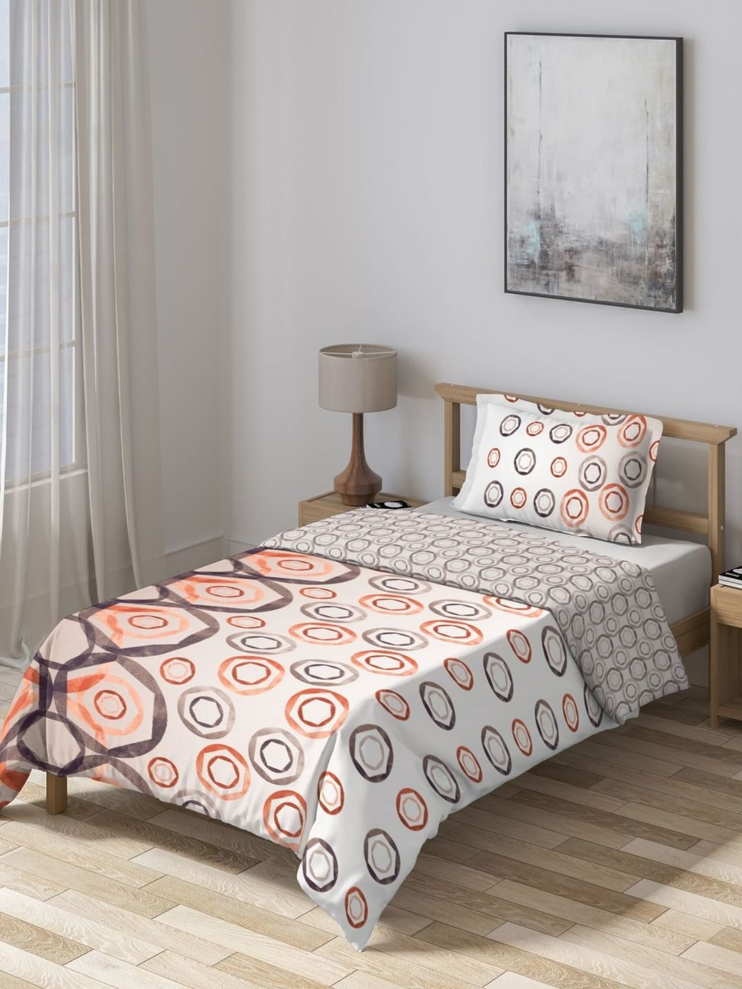 Ddecor Live Beautiful Orange Brown Cotton 150 Tc Comforter Set Of 1 From Ddecor At Best Prices On Tata Cliq