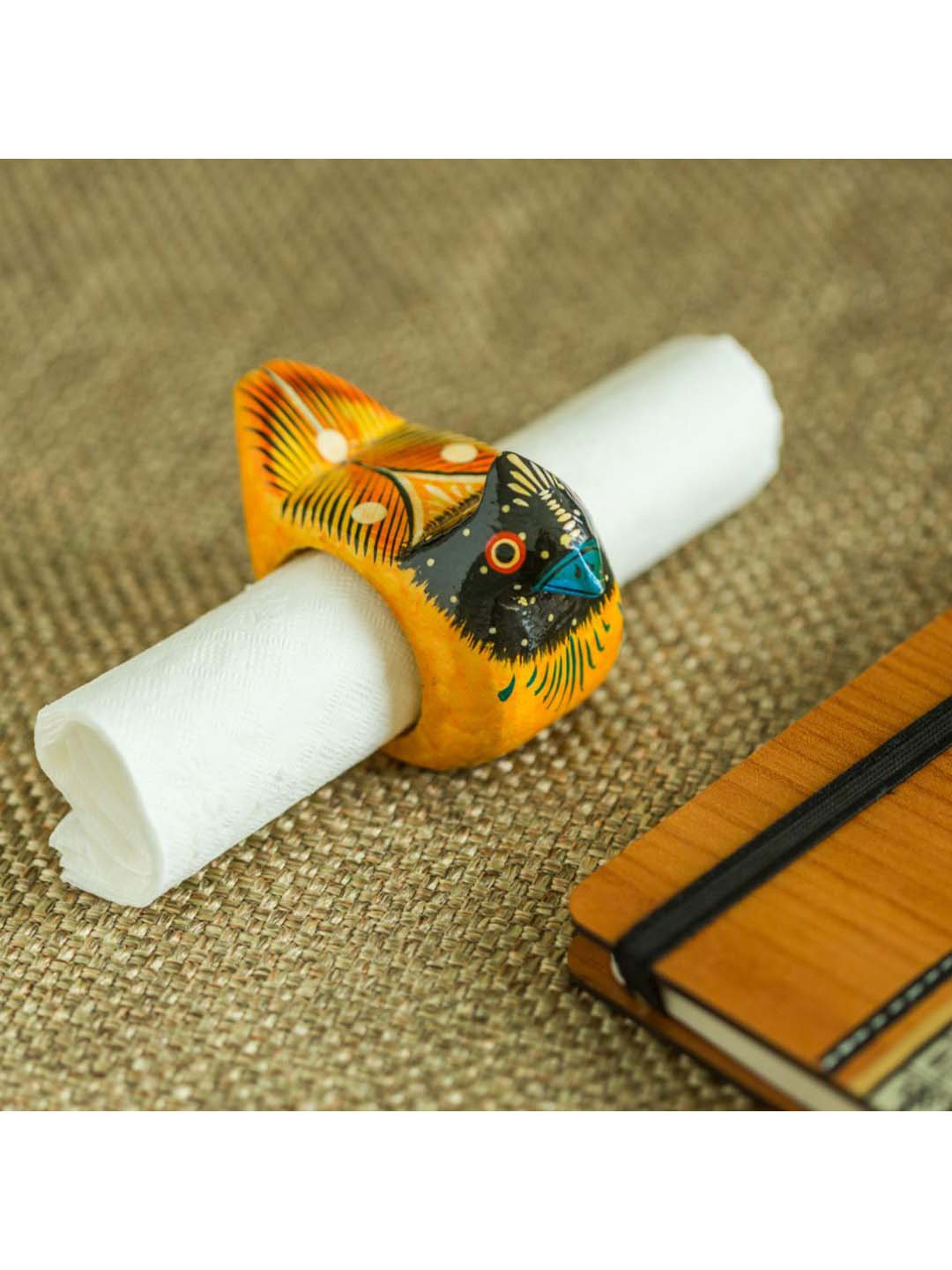 Exclusivelane Handmade Hand Painted Bird Napkin Ring In Wood From Exclusivelane At Best Prices On Tata Cliq