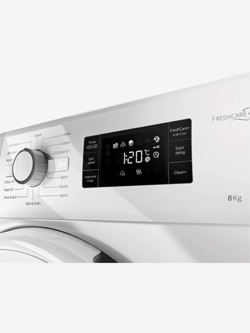 Whirlpool 8 kg Inverter Fully Automatic Front Load Washing Machine 1200 RPM  Fresh Care 8212, White