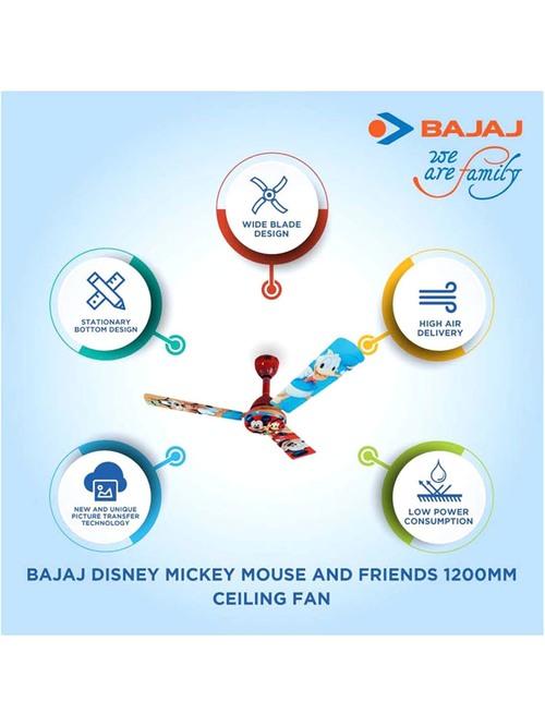 Buy Bajaj Disney Princess 1200 Mm 3 Blades Ceiling Fan Multicolor Online At Best Price Tata Cliq