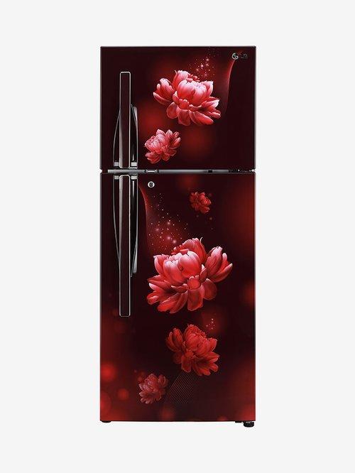 LG 260 L Inverter 2 Star 2020 Double Door Convertible Refrigerator  Scarlet Charm, GL T292RSCY