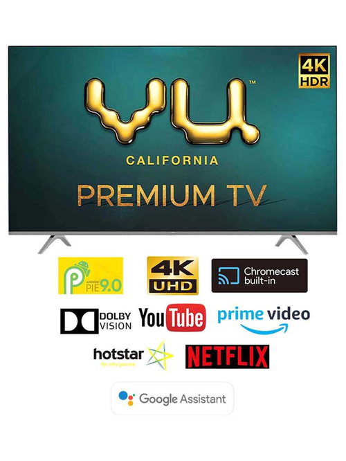 Vu 139 cm (55 Inches) Android Smart 4K Ultra HD LED TV Premium 55PM (2020 Model, Black)