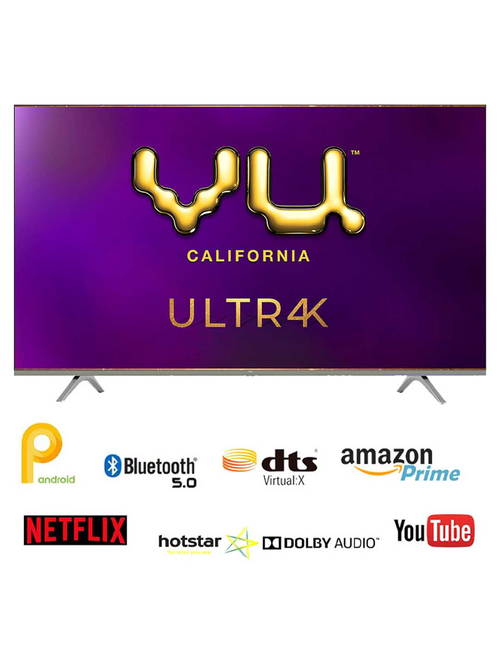 VU 126 cm (50 Inches) Smart Ultra HD 4K LED TV 50UT (2020 Model, Grey)