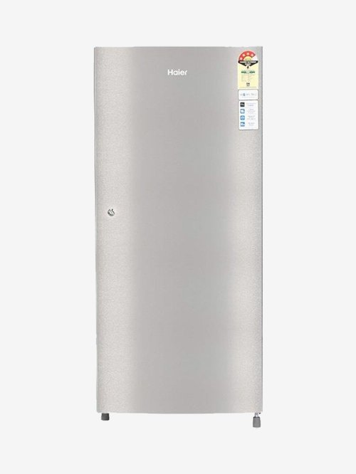 Haier 195L 4 Star  2020  Direct Cool Single Door Refrigerator  Silver, HRD 1954CTS E  Haier Electronics TATA CLIQ