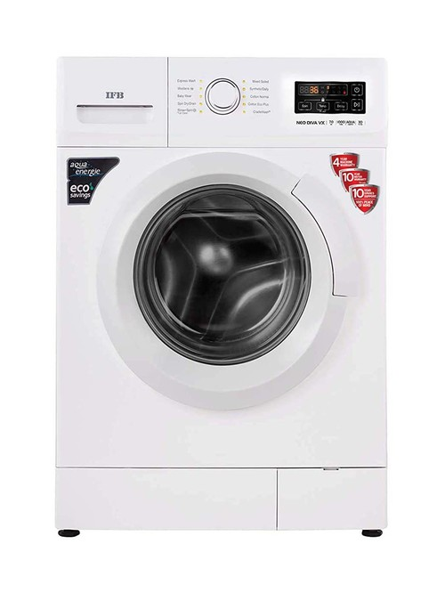 IFB 7 kg Fully Automatic Front Load with In-built Heater White(Neo Diva VX)