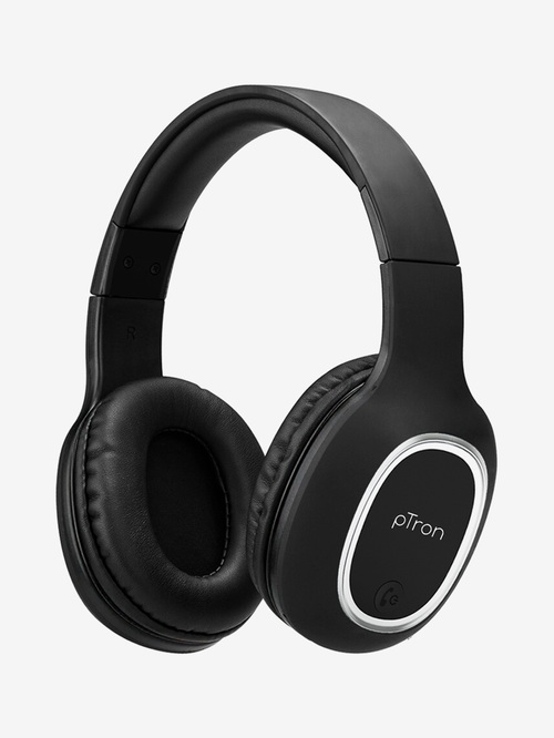 PTron Soundster Lite Wireless Bluetooth Headphone with Microphone  Black