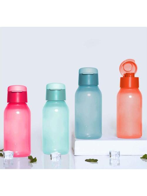 Tupperware Cool n Chic Pink   Blue Plastic Water Bottles  350 ml    Set of 4