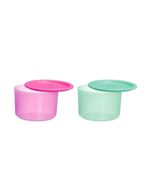 Tupperware Green   Pink Plastic Multipurpose Containers with Lid  1400 ml    Set of 2
