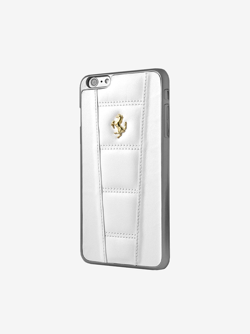 Ferrari Faux Leather Back Cover for Apple iPhone 8/7/6/6s  White
