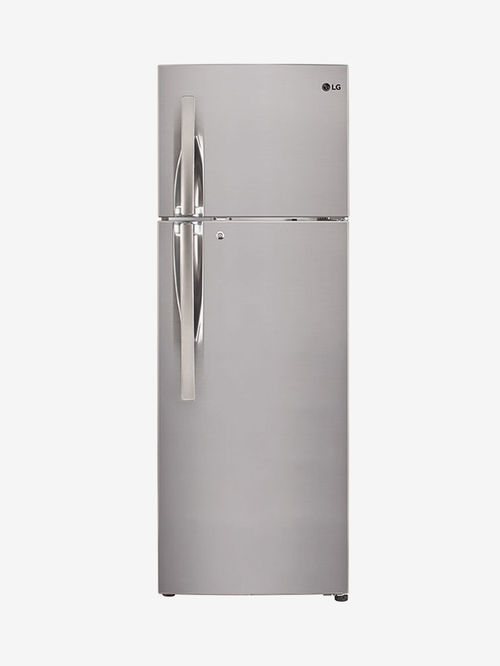 LG 308 L Frost Free Double Door 2 Star Refrigerator(SILVER, GL-T322RPZY)