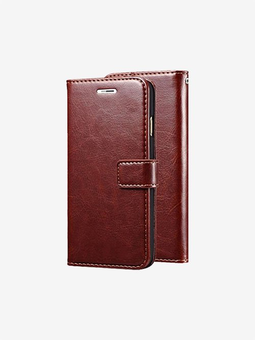 Nkarta Vintage Pu Leather Flip Cover for Oneplus Nord  Brown