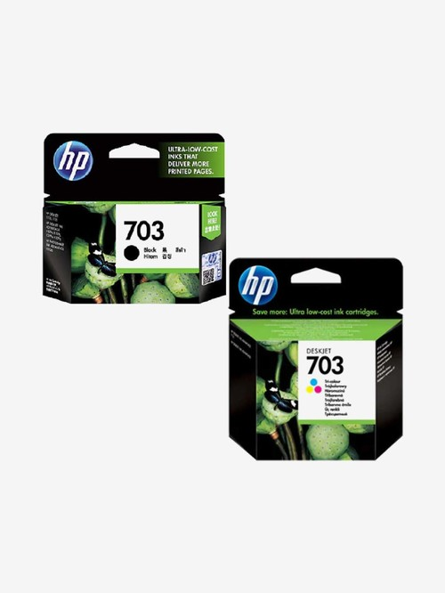 HP 703 Black and 703 Three Colors Combo Ink Cartridges  Multi