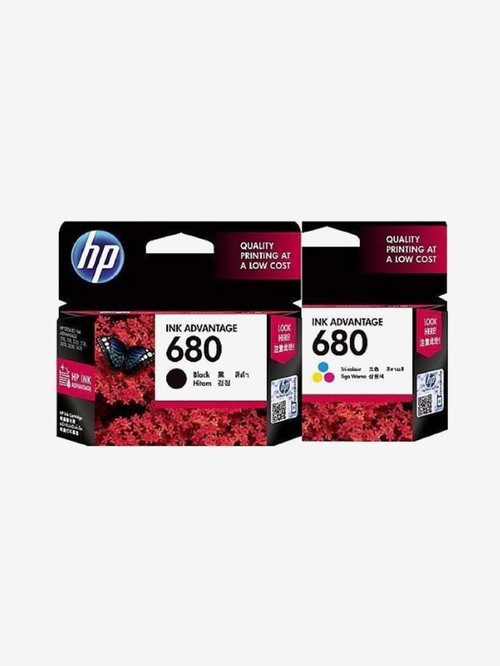 HP 680 Black and 680 Tri Color Combo Ink Cartridges  Multi